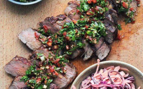 Kött och chimichurri